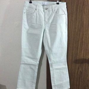 Loft | Seafoam Green Curvy Kick Crop Jeans